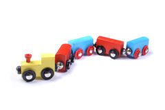 Train toy. Color train toy on the white background Stock Image