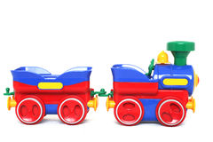 Train Toy. Over white background Stock Photo