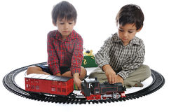 Train toy, for children. Train toy, present for children Royalty Free Stock Images