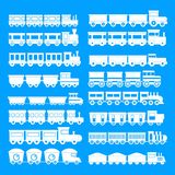 Train toy children icons set, simple style. Train toy children icons set. Simple illustration of 16 train toy children vector icons for web Stock Illustration