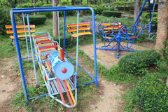 Train toy for children at the playground Stock Image