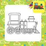 Train toy. Coloring page Stock Photography