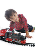 Train toy, present. For children Stock Photos