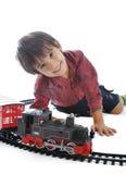 Train toy, present Stock Photos