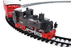 Train toy, present Royalty Free Stock Image