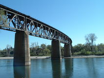 Train Track. On the Sacramento River Royalty Free Stock Photos