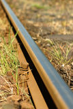 Train track. Rusty train track, close up Royalty Free Stock Photography