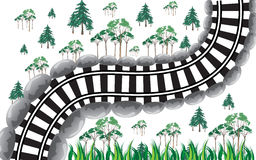 Train Track. Small train track isolated background illustration Stock Photography