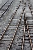 Train track. Photograph of train track with siding royalty free stock photos