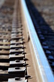 Train track. Close up shot of a train track Royalty Free Stock Photography
