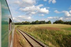 Train track. On the rail way Royalty Free Stock Photo
