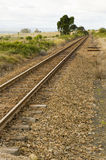 Train track. A well worn train track running through the countryside Royalty Free Stock Photography