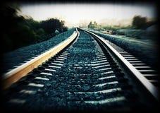 train track stock image