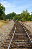 Train track around the bend Stock Images