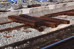 Train track being repaired Royalty Free Stock Photography