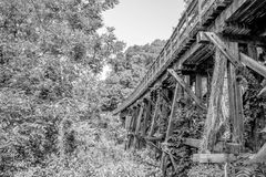 Train track bridge Stock Photography