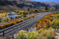 Train track in Colorado Stock Photo