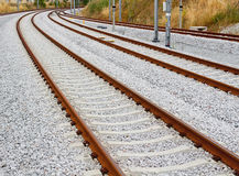 Train Track Curves Royalty Free Stock Photography