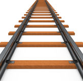 The train track. 3d generated picture of a train track Royalty Free Stock Photos
