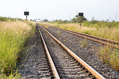Train track. Form rural part of thailand Stock Photography