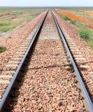 Train track outback australia Royalty Free Stock Image