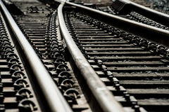 Train track switches Stock Image