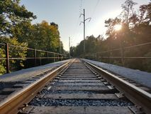 Train track trestle Stock Photography