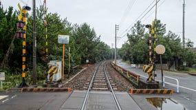 Train track at Uminonakamichi Stock Photo