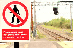 Train Track Warning Sign Royalty Free Stock Images