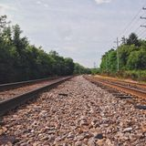 Train tracking Stock Image