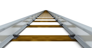 Train tracks. Going on to infinity Royalty Free Stock Photo
