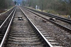 Train tracks. A picture of train tracks Royalty Free Stock Photography