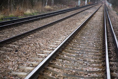 Train tracks. A picture of train tracks Royalty Free Stock Images