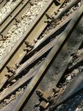 Train tracks. Close-up to train tracks Stock Photos