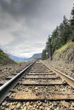 Train Tracks. On Columbia Gorge in Washington State Stock Photos
