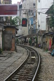 Train Tracks. Train Track heading north out of Hanoi, Vietnam Royalty Free Stock Image