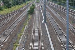 Train tracks. With railway switch Royalty Free Stock Photo