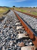 Train tracks. Landscape with abandoned train tracks royalty free stock photos