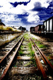 Train tracks. Disappearing into the distance Royalty Free Stock Photos