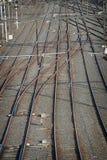 Train tracks. Railway lines Royalty Free Stock Photography