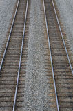 Train Tracks. Two Train Tracks Royalty Free Stock Images