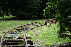 Train tracks abandoned Stock Photos