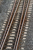 Train tracks from above Royalty Free Stock Image