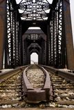 Train Tracks and bridge Royalty Free Stock Photography