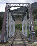Train tracks and Bridge Stock Photos