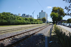 Train Tracks in Buenos Aires Stock Photography