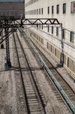 Train Tracks in Chicago Stock Image