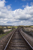 Train tracks in countryside Royalty Free Stock Image