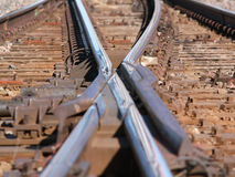 Train Tracks Crossing Royalty Free Stock Photography