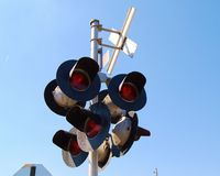 Train Tracks Crossing Signals Royalty Free Stock Photo